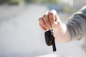 Handing over a set of car keys